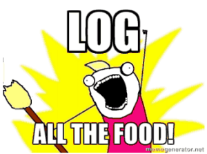 log food cartoon
